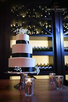 3 Tier Cake: Vanilla with Vanilla Buttercream, Chocolate with Chocolate Buttercream and Red Velvet with Cream Cheese