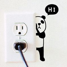 U.S. home warm long Korean decorative wall stickers cute cartoon panda hiXJ0310 switch stickers