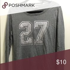 cheap for discount aa5d6 513da Gray sweater Gray number 27 sweater Arizona Jean Company Sweaters Crew    Scoop Necks