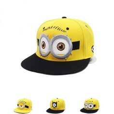 74e485668ba Parenting Kids Baseball Caps Cartoon Minions Boys Girls Snapback Adjustable  Cap Hats Children Flat Hip Hop Caps free shipping-in Baseball Caps from  Men s ...