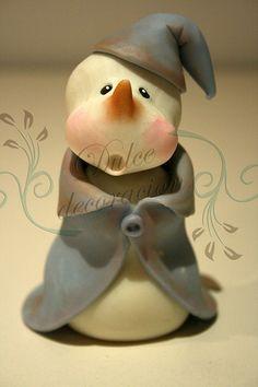 muñeco de nieve by Dulce decoración (modelado - tartas decoradas), via Flickr