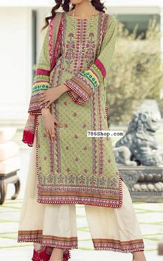 Pistachio Green Lawn Suit   Buy Rang Rasiya Pakistani Dresses and Clothing online in USA, UK Pakistani Dresses Online Shopping, Online Dress Shopping, Fashion Pants, Fashion Dresses, Rang Rasiya, Pakistani Lawn Suits, Add Sleeves, Lawn Fabric, Pistachio Green