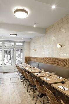 Olho no detalhe No décor deste pequeno restaurante parisiense, a designer de interiores Charlotte Biltgen fez questão de explorar todos os pormenores