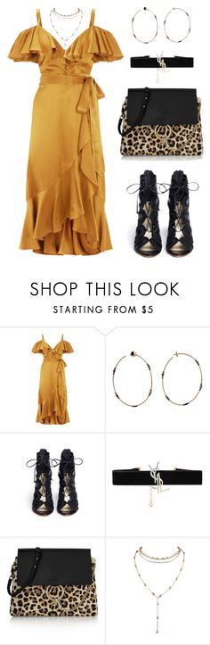 """""""Honey B"""" by baludna ❤ liked on Polyvore featuring Temperley London, STONE, Francesco Russo, Yves Saint Laurent and Chloé"""