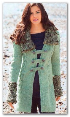 Вяжем пальто с отделкой