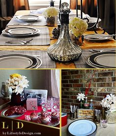Home Holiday Decorating • Tablescapes • Centerpieces • Entertain with Ease by #LifestyleDesign  http://byLifestyleDesign.com #Celebrate #Decorate #HomeHoliday