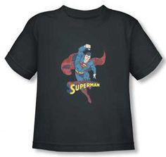Superman Vintage Grey Toddler T Shirt