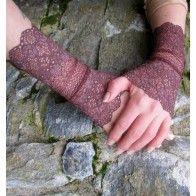 Brown lace cuffs Lace Cuffs, Leg Warmers, Fingerless Gloves, Fairy, Brown, Fashion, Fingerless Mitts, Moda, Fingerless Mittens