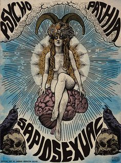 Affiche Sapiosexual Psychopathia par Darren Grealish
