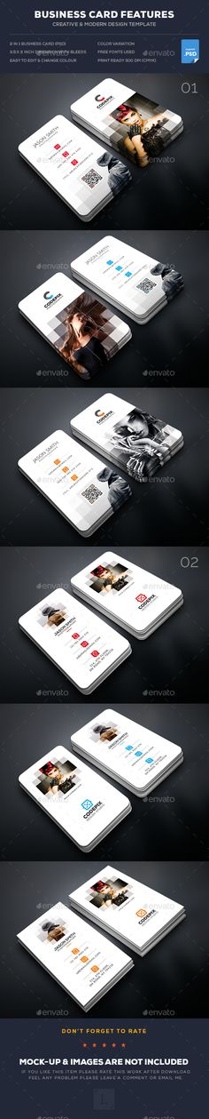 Photography Business Card Templates PSD Bundle. Download here: https://graphicriver.net/item/photography-business-card-bundle/17168489?ref=ksioks