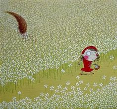 O-oh: Illustration by Ana Terra #illustration #LittleRedRidingHood #wolf