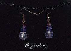 #simple #violet #earrings #3bjewellery #wirewrapping #gettingBetter