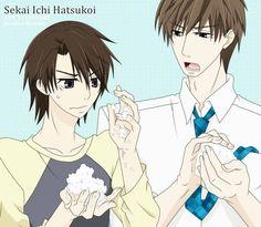 Sekaiichi Hatsukoi - Hatori Yoshiyuki x Yoshino Chiaki. 吉野千秋/羽鳥芳雪 (世界一初恋 〜小野寺律の場合〜)