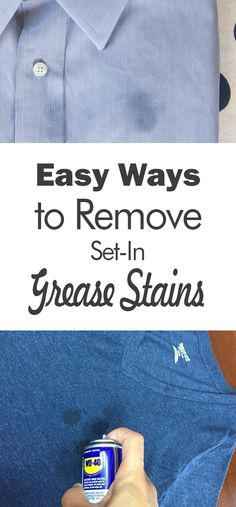 Easy Ways to Remove Set-in Grease Stains - 101 Days of Organization #cleaning #cleaningtips #cleaninghacks