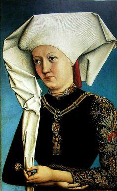 Hemma von Gurk wearing the Order of the Swan by Swabian artist Sebald Bopp, c. 1490