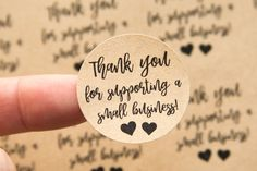 Thank you for supporting a small business sticker details: • These stickers are a thoughtful way to thank your customers! • They measure 1.25 inches in diameter and are sold per sheet. • Each sheet has 48 labels. • Available in WHITE paper or BROWN KRAFT Paper. • If youd like a custom design, quantity or anything at all just convo us or send us an email! ======================&#...