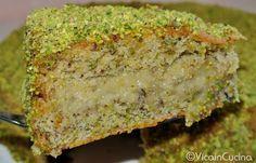 Torta al pistacchio con crema di pistacchio