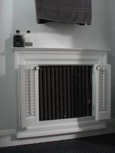 Bathroom radiator cover