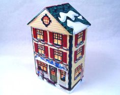 Tin House, Box Houses, Vintage Tins, Holidays And Events, Boxes, Bird, Building, Outdoor Decor, Christmas