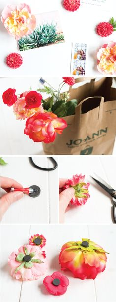 Give every part of your home a fresh makeover—including your refrigerator— with these DIY Spring Flower Magnets! With just a few craft supplies found at Jo-Ann, you'll be displaying your photos and notes beautifully in no time.