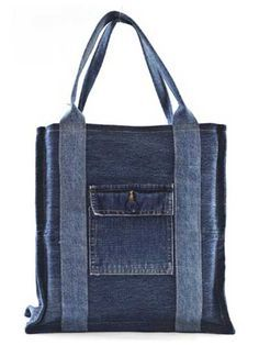 shopping bags from old jeans - Google Search