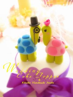 LOVE ANGELS Wedding Cake Topper-love turtles by charles fukuyama, via Flickr