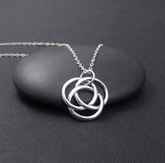 Love Knot Necklace Sterling Silver Infinite by themoonflowerstudio