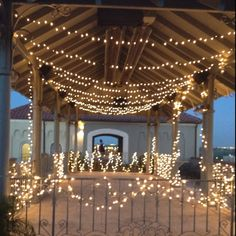 How cute is this lighting for a little outdoor party!