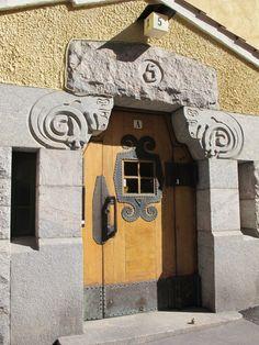 Helsinki Entrance Doors, Doorway, Doors Galore, Colour Architecture, Stone Masonry, House Doors, Wooden Doors, Helsinki, Windows And Doors