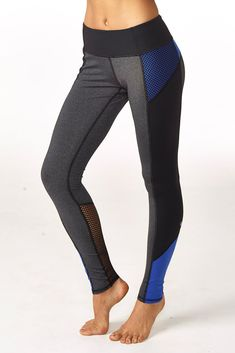 16e28a1be19 gwen colorblock legging royal blue Sporty Outfits