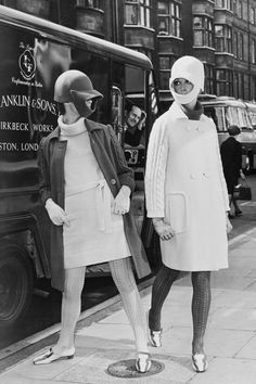 24 Classic Street Style Shots You've Never Seen Before #refinery29  http://www.refinery29.com/vintage-street-style-pictures#slide-10  This is the sartorial version of Daft Punk street style circa 1966.