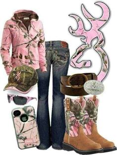 Browning in Pink Camo! There could be more camo than pink. Country Girl Outfits, Country Girl Style, Country Fashion, Country Girls, My Style, Country Life, Southern Style, Country Wear, Southern Girls