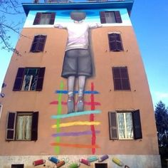 A cielo aperto!#streetart#school#rome#italy#colour##picoftheday#follow4follow#children#grow#colorful  by roby078
