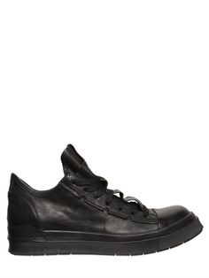 CINZIA ARAIA SMOOTH LEATHER MID TOP SNEAKERS, BLACK. #cinziaaraia #shoes #sneakers