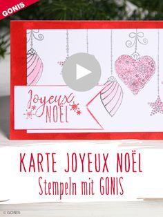 Weihnachtskarten stempeln - Videoanleitung von GONIS Stampin Up, Inspiration, Noel, Creative Ideas, Ideas For Christmas, Stamping Up, Xmas Cards, Basteln, Die Cutting