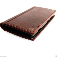 LG G3 case Genuine Vintage Brown Leather book purse wallet cover holder natural leather gift cell phone