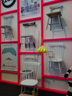 My chair design in the middle! Woonbeurs 2013