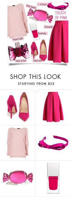 """""""Touch of Pink"""" by sara-86 ❤ liked on Polyvore featuring Liliana, Chicwish, Phase Eight, L. Erickson, Kate Spade, Givenchy and Viktor & Rolf"""