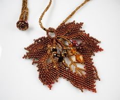 RESERVED FOR TAMMARA: Necklace of Beadwoven Maple by TheHighBead