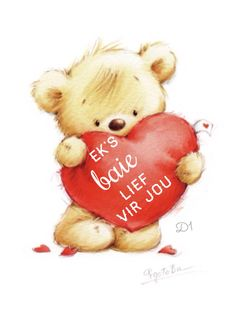 Teddy Bear With Heart Wisdom Quotes, Love Quotes, Teddy Bear With Heart, Good Morning Vietnam, Teddy Bear Pictures, Afrikaanse Quotes, Goeie More, Tatty Teddy, Stay Happy