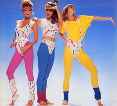 Legwarmers & Lycra Leotards: Totally Rad Aerobics Fashions of the - Flashbak Costume 1990s Fashion Trends, 80s And 90s Fashion, Fashion Fashion, Fashion Women, Fitness Fashion, 80s Fashion Party, Fitness Wear, 1980s Trends, 80s Party Outfits