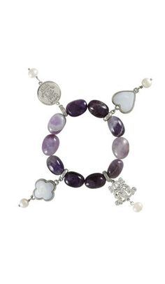 Dara Loft - Bowerhaus - Lucky Bracelet - Purple Fluted Agate USD85 International Shipping Available - email us for shipping quotes to other countries sales@daraloft.com