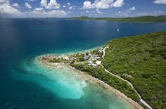 Aerial View of Frenchmans Resort and Sir Francis Drake Channel in the BVI