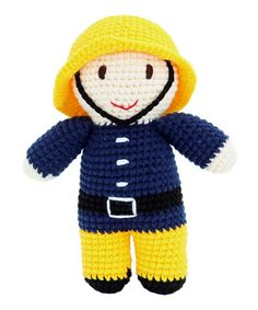 Take a look at this Fireman Crochet Soft Toy by Imajo on #zulily today!