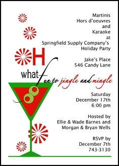 Lots of sample invitation wording ideas and samples for business business jingle and mingle christmas holiday party invitation cards shop from the largest and most stopboris Images