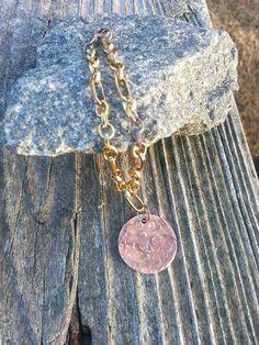 Hammered Copper Tag Bracelet $20