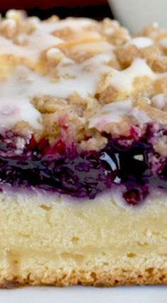 Blueberry Cream Coffee Cake