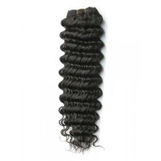 22 inches Natural Black(#1b) Deep Wave Indian Remy Hair Weft