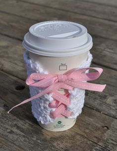 A Girly Reusable Laced Coffee Sleeve by regiftstore on Etsy, $3.25
