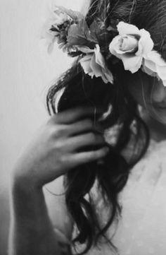 / flowers in her hair